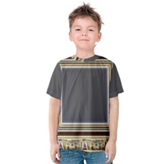 Fractal Classic Baroque Frame Kids  Cotton Tee