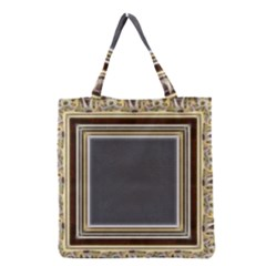 Fractal Classic Baroque Frame Grocery Tote Bag