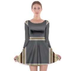 Fractal Classic Baroque Frame Long Sleeve Skater Dress