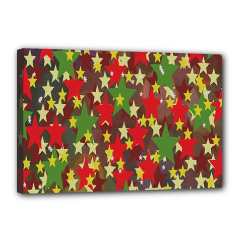 Star Abstract Multicoloured Stars Background Pattern Canvas 18  X 12