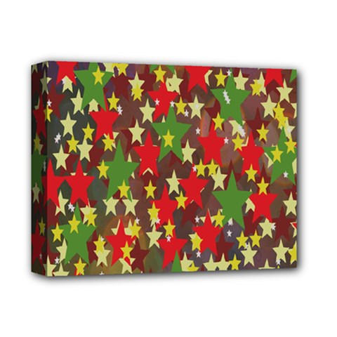 Star Abstract Multicoloured Stars Background Pattern Deluxe Canvas 14  X 11