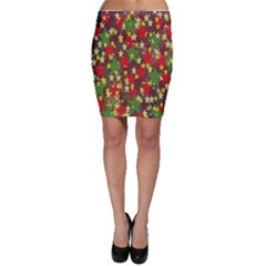 Star Abstract Multicoloured Stars Background Pattern Bodycon Skirt