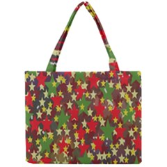 Star Abstract Multicoloured Stars Background Pattern Mini Tote Bag