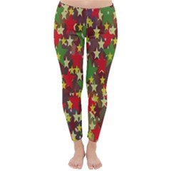 Star Abstract Multicoloured Stars Background Pattern Classic Winter Leggings