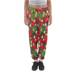 Star Abstract Multicoloured Stars Background Pattern Women s Jogger Sweatpants
