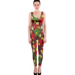 Star Abstract Multicoloured Stars Background Pattern OnePiece Catsuit