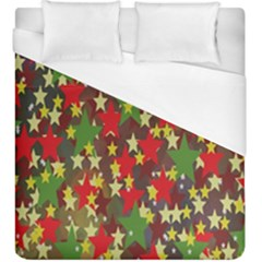 Star Abstract Multicoloured Stars Background Pattern Duvet Cover (king Size)