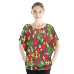 Star Abstract Multicoloured Stars Background Pattern Blouse