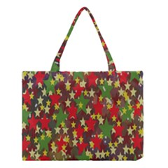 Star Abstract Multicoloured Stars Background Pattern Medium Tote Bag