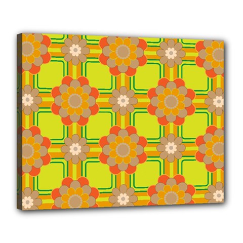 Floral Pattern Wallpaper Background Beautiful Colorful Canvas 20  X 16