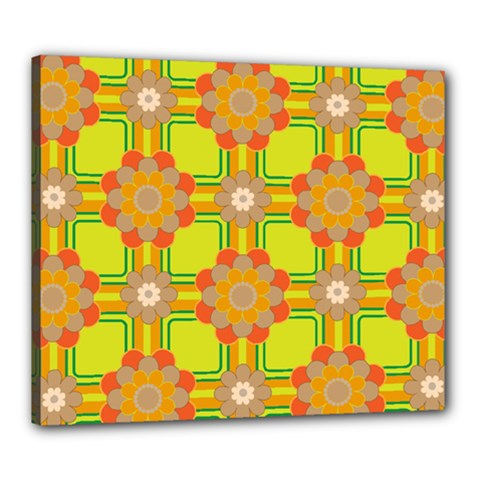Floral Pattern Wallpaper Background Beautiful Colorful Canvas 24  X 20
