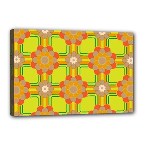Floral Pattern Wallpaper Background Beautiful Colorful Canvas 18  X 12