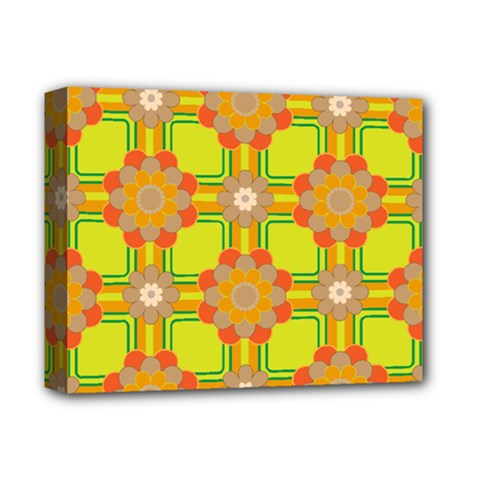 Floral Pattern Wallpaper Background Beautiful Colorful Deluxe Canvas 14  x 11
