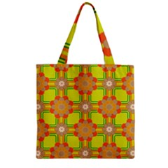 Floral Pattern Wallpaper Background Beautiful Colorful Zipper Grocery Tote Bag