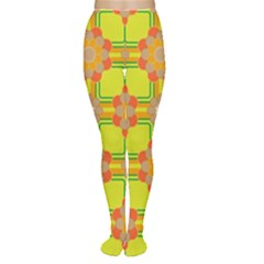 Floral Pattern Wallpaper Background Beautiful Colorful Women s Tights