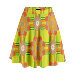 Floral Pattern Wallpaper Background Beautiful Colorful High Waist Skirt