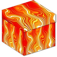 Fire Flames Abstract Background Storage Stool 12