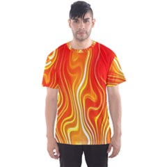 Fire Flames Abstract Background Men s Sport Mesh Tee