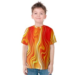 Fire Flames Abstract Background Kids  Cotton Tee