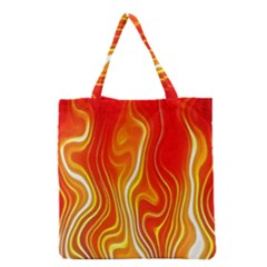 Fire Flames Abstract Background Grocery Tote Bag