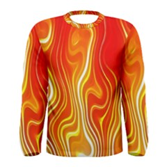 Fire Flames Abstract Background Men s Long Sleeve Tee
