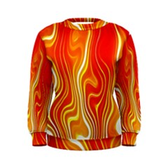 Fire Flames Abstract Background Women s Sweatshirt