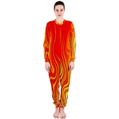 Fire Flames Abstract Background OnePiece Jumpsuit (Ladies)