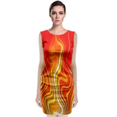 Fire Flames Abstract Background Classic Sleeveless Midi Dress