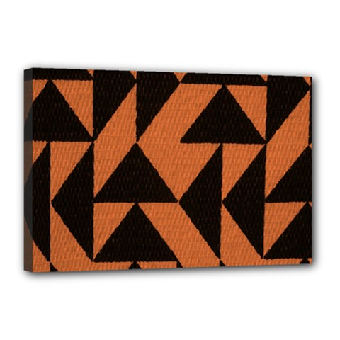 Brown Triangles Background Canvas 18  X 12