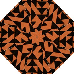 Brown Triangles Background Folding Umbrellas