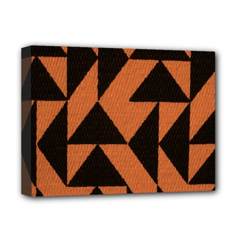 Brown Triangles Background Deluxe Canvas 16  x 12