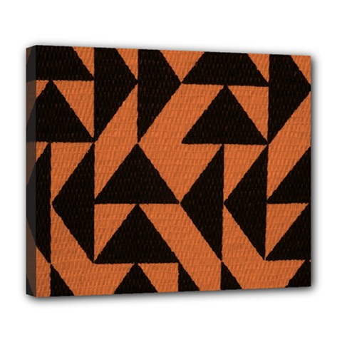 Brown Triangles Background Deluxe Canvas 24  x 20