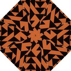 Brown Triangles Background Hook Handle Umbrellas (Medium)
