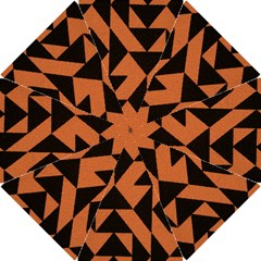 Brown Triangles Background Hook Handle Umbrellas (Small)