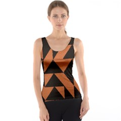 Brown Triangles Background Tank Top