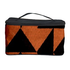 Brown Triangles Background Cosmetic Storage Case