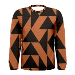 Brown Triangles Background Men s Long Sleeve Tee