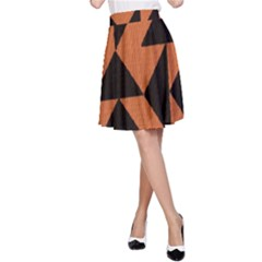 Brown Triangles Background A Line Skirt