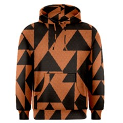 Brown Triangles Background Men s Pullover Hoodie