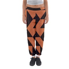 Brown Triangles Background Women s Jogger Sweatpants