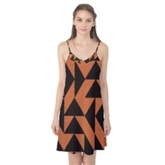 Brown Triangles Background Camis Nightgown