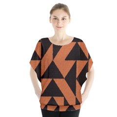 Brown Triangles Background Blouse