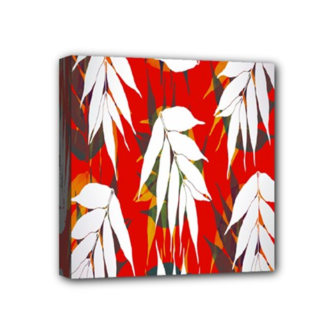 Leaves Pattern Background Pattern Mini Canvas 4  X 4