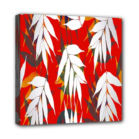 Leaves Pattern Background Pattern Mini Canvas 8  x 8