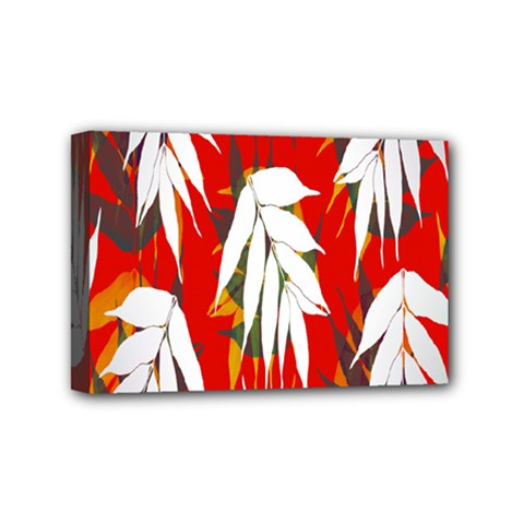 Leaves Pattern Background Pattern Mini Canvas 6  X 4