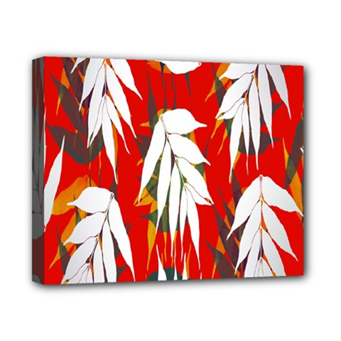 Leaves Pattern Background Pattern Canvas 10  X 8