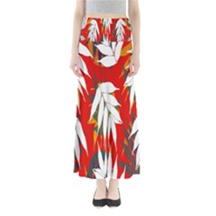 Leaves Pattern Background Pattern Maxi Skirts