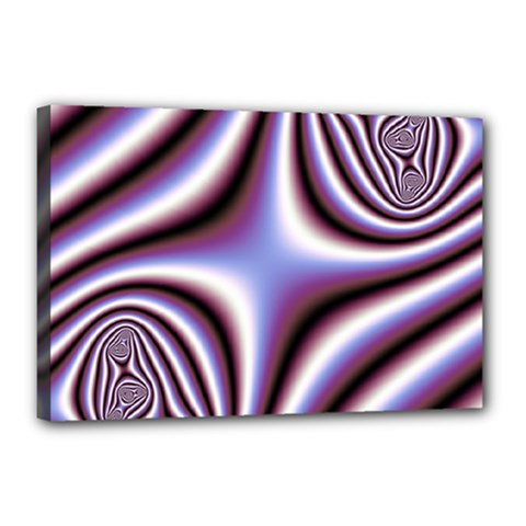 Fractal Background With Curves Created From Checkboard Canvas 18  X 12