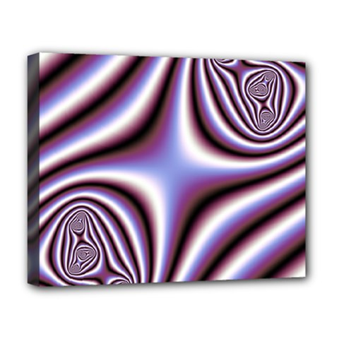 Fractal Background With Curves Created From Checkboard Deluxe Canvas 20  x 16