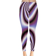Fractal Background With Curves Created From Checkboard Leggings